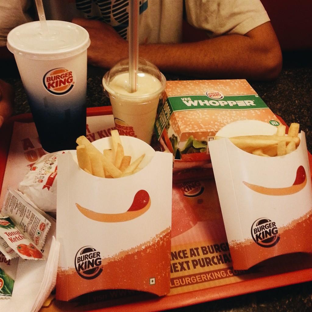 vegetarian burger king india